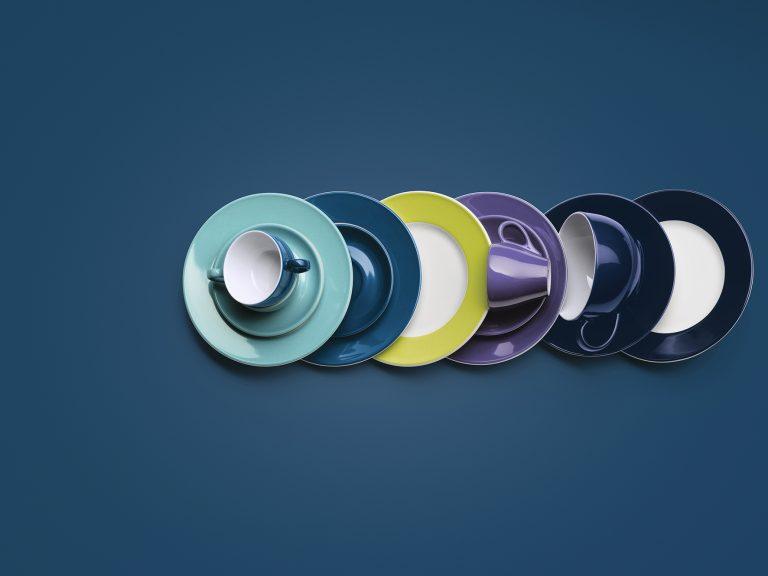 Dibbern Solid Color in 48 Farben - neu : Kaki &  Indigo