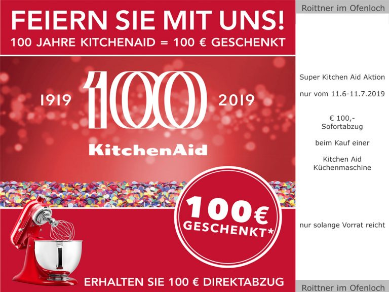 KitchenAid Aktion vom 11.6-11.7.2019