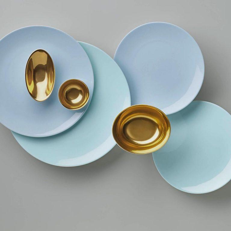Dibbern fine bone china  Pastell und Gold